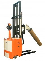 Electric pedestrian Stacker with reels spindle hydraulic control