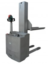 Electric pedestrian INOX Stacker with standard forks