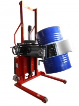Semi-electric Stacker with manual rotating drums clamp