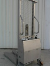 Stainless steel semi-electric stacker