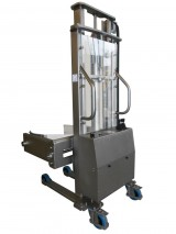 Semi-electric INOX Stacker with drums rotating clamp