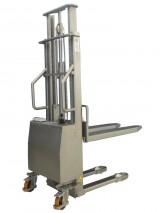 Semi-electric INOX Stacker with standard forks