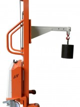 Semi-electric stacker with jig crane